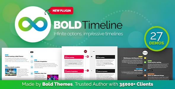 WordPress时间轴插件Bold Timeline v1.0.2 – WordPress Timeline Plugin